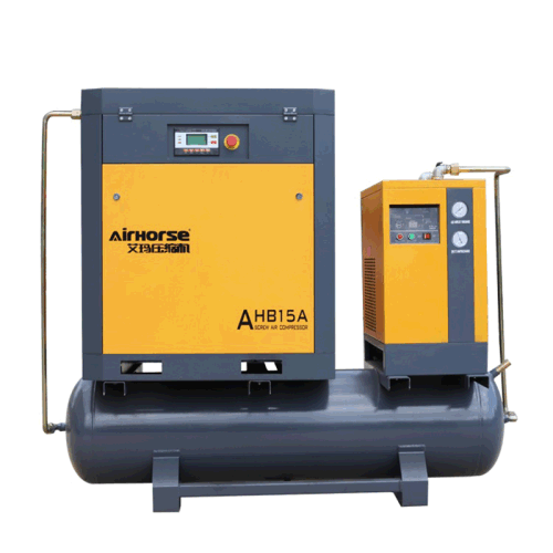 5kw-15kw AC Power Rotary Screw Air Compressor 8bar 81cfm with 300L-500L Tank and Dryer