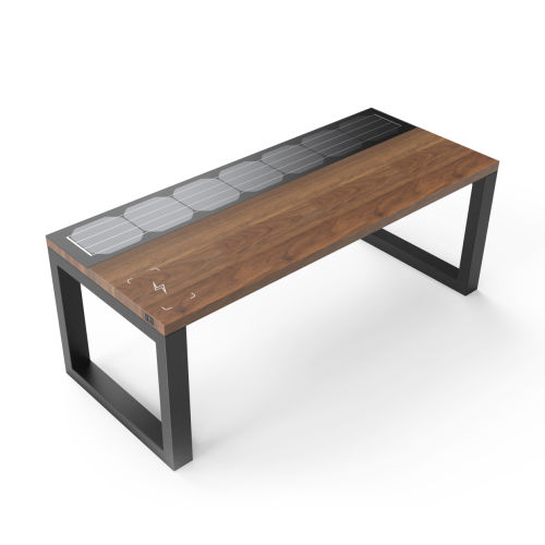 Sunflre outdoor solar bench