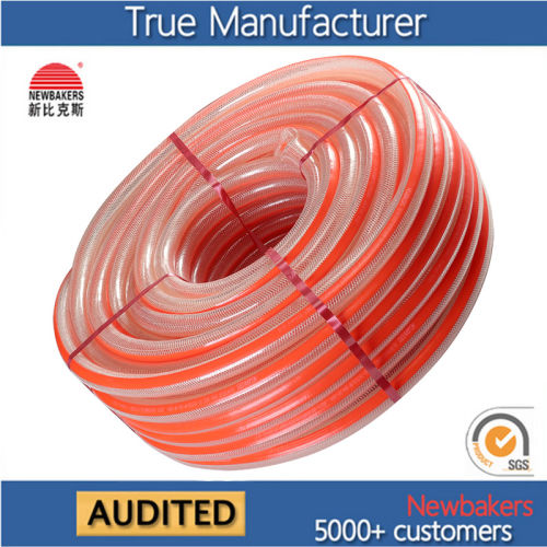 PVC Flexible Braided Reinforced Fiber Nylon Water Pipe Hose Ks-2531nlg 50yards
