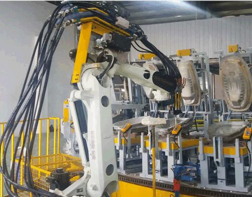 robot pouring Foam automatic production line